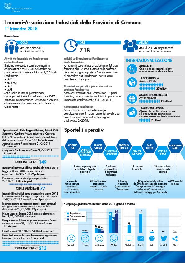 Infografica aziendale realizzata per Associazione Industriali Cremona